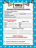 Polka Dot Theme Student Information Sheet
