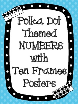 Polka Dot Theme Ten Frame Number Posters