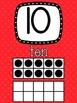 Polka Dot Theme Ten Frame Number Posters