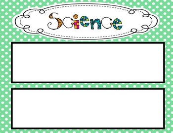 Polka Dot Themed 4th Grade Science TEKS Statement Posters