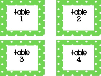 Polka Dot Themed Back to School Signs and Classroom Labels