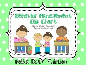 Polka Dot Themed Behavior Clip Chart