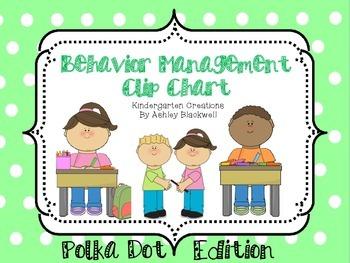 Polka Dot Themed Behavior Clip Chart