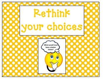 Polka Dot Themed Behavior Clip Chart (BIST procedures)