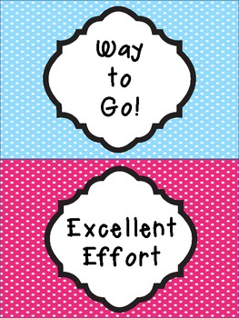 Polka Dot Themed Behavior Clip Chart Pack