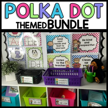 Polka Dot Themed Bundle (turquoise, purple, pink, lime green)