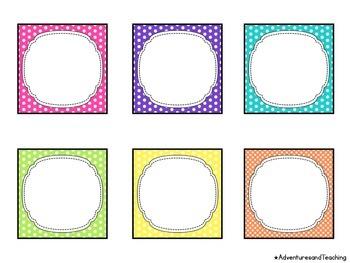 Polka Dot Themed Calendar Numbers
