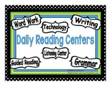 Polka Dot Themed Centers & Guided Reading Rotation Powerpoint with 6 Centers