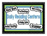 Polka Dot Themed Centers & Guided Reading Rotation Powerpo