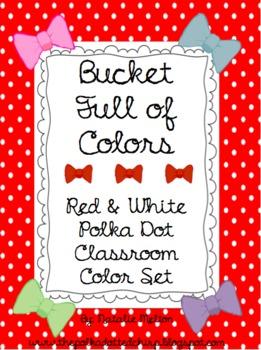 Polka Dot Themed Class Color Set