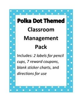 Polka Dot Themed Classroom Management Pack