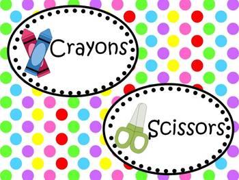 Polka Dot Themed Classroom Packet