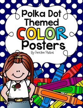 Polka Dot Themed Color Posters