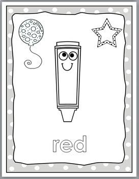 Polka Dot Classroom Decor Color Word Posters