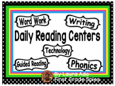 Polka Dot Themed Daily Automated Centers and Guided Reading Rotation Powerpoint