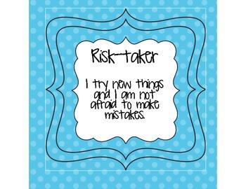 Polka Dot Themed IB Learner Profile Signs