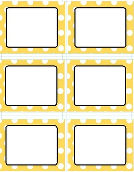 Polka Dot Themed Labels