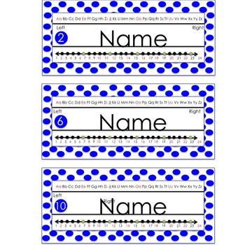 Name Plate -Polka Dot Themed- (editable)