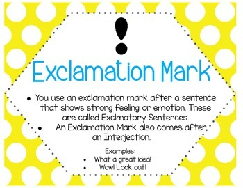 Polka Dot Themed Punctuation Posters