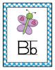 Polka Dot Themed Traditional Manuscript Alphabet (Full Page)