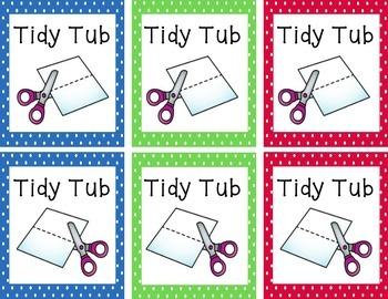 Polka Dot Tidy Tub Labels