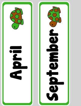 Polka Dot Turtle Calendar Kit