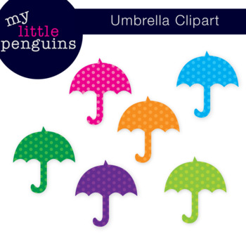 Polka Dot Umbrella Clipart