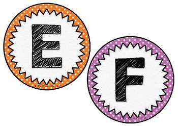 Polka Dot Uppercase Alphabet Cards FREE