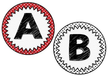 Polka Dot Uppercase Alphabet Cards FREEBIE