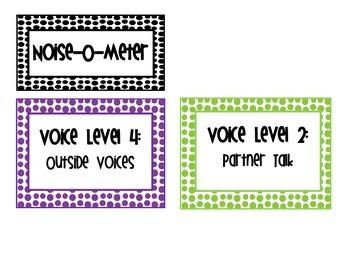"Polka Dot Voice Level ""Noise-o-Meter"""