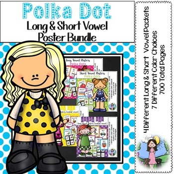 Polka Dot Vowel Posters Bundle