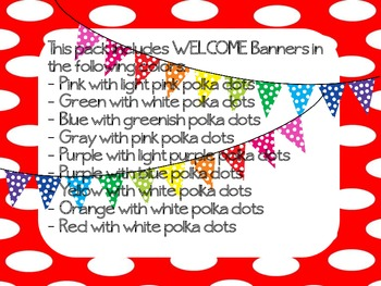 "Polka Dot ""WELCOME"" Pennant Banner"