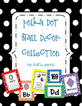 {Polka Dot} Wall Decor Complete Collection