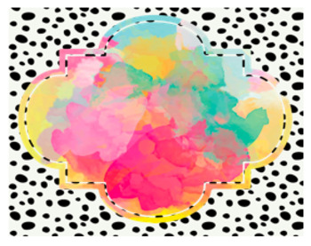 Polka Dot Watercolor Label *FREEBIE!*