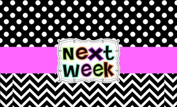 Polka Dot Weekly Drawer Labels (Free)