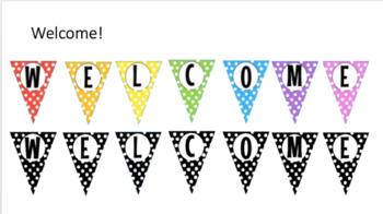 Polka Dot Welcome Banner