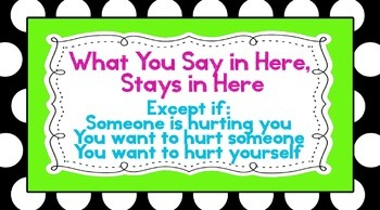 """Polka Dot - What You Say in Here Stays in Here Poster 36""""x20"""""""