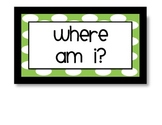 "Polka Dot ""Where Am I?"" signs"