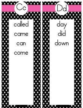 Polka Dot Word Wall