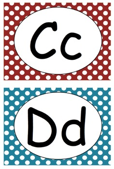 Polka Dot Word Wall ABC's