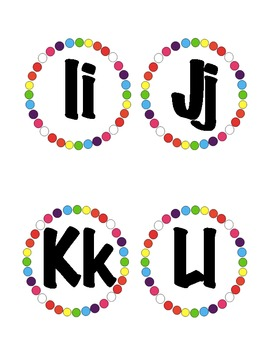 Polka Dot Word Wall Alphabet