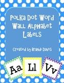 Polka Dot Word Wall Alphabet Headers