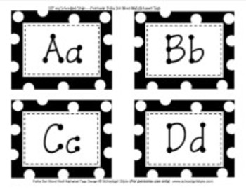 Word Wall Polka Dot Alphabet Tags Classroom Decor