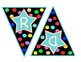 Polka Dot Word Wall Banner and Letters