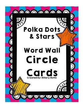 Polka Dot Word Wall Cards