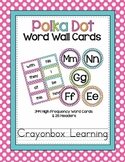 Polka Dot Word Wall Cards (set 2) - High Frequency Words -