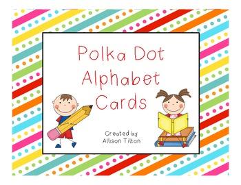 Polka Dot Word Wall Headers