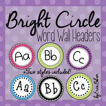 Word walls resources lesson plans teachers pay teachers bright circle frame word wall headers bright circle frame word wall headers publicscrutiny Image collections