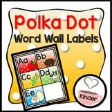 Polka Dot Word Wall Labels