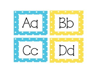 Polka Dot Word Wall Labels and Word Cards